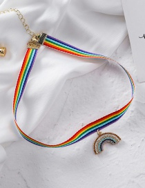 Fashion Colored Pendant Rainbow Necklace