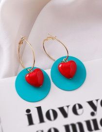 Fashion Blue Acrylic Round Color Earrings