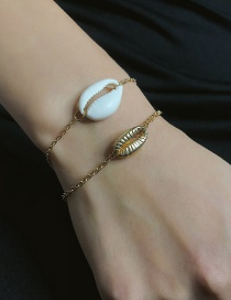 Fashion Gold Geometric Single Layer Shell Chain Bracelet