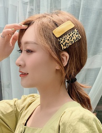 Fashion A# Yellow Pair Chiffon Fabric Leopard Bb Clip