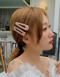 Fashion Cherry Blossom Powder Total Geometric Hair Clip