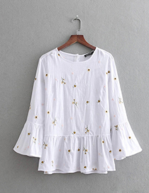 Fashion White Cotton Pullover Shirt