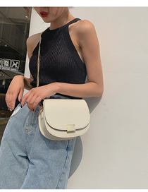 Fashion White Colorblock Crossbody Chain Shoulder Bag