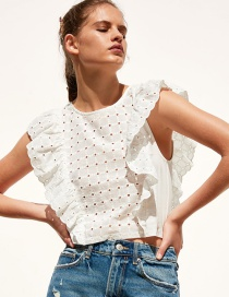 Fashion White Laminated Top