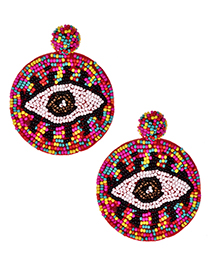 Fashion Color Non-woven Rice Beads Eye Studs