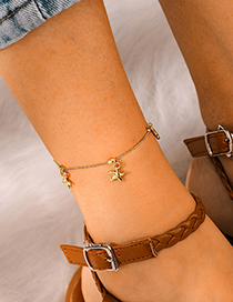 Fashion Gold Starfish Anklet Single Layer Anklet