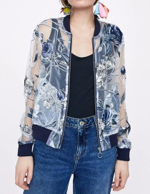 Fashion Blue Squandering Organza Smash-proof Jacket