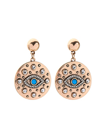 Fashion Gold Devil's Eye Stud Earrings