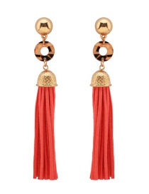 Fashion Red Tassel Earrings