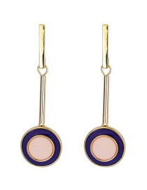 Fashion Color Resin Acrylic Round Earrings