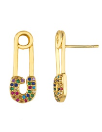 Fashion Golden Pin Pin Earrings