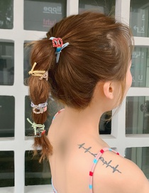 Fashion A Letter Yellow Rope Full Diamond Letter Hair Circle