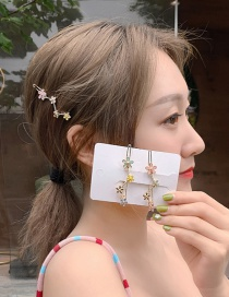 Fashion Green Alloy Drip Hair Clip
