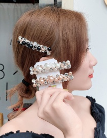 Fashion Champagne Imitation Pearl-studded Hair Clip