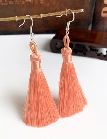 Fashion Orange Pink Alloy Tassel Earrings