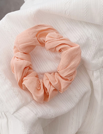 Fashion Pink Solid Color Fabric Hair Ring