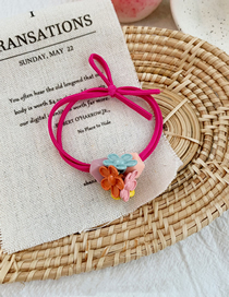 Fashion Rose Red Contrast Color Flower Hair Ring