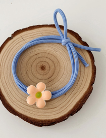 Fashion Cream Flower-orange Powder Flower Hair Circle