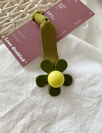 Fashion Green Flowers Contrast Flowers: Knotted Rubber Bands