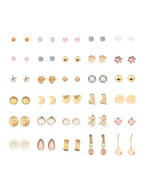 Fashion Color Alloy Earrings Set (30 Pairs)