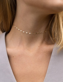 Fashion Gold Stainless Steel Necklace