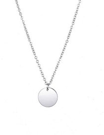 Fashion Steel Color Round Stainless Steel Necklace
