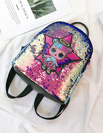 Star Purple Children's Cartoon Sequin Backpack
