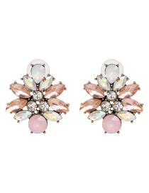 Color Alloy Stud Earrings