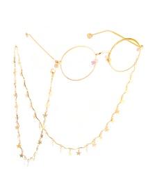 Gold Copper Star Glasses Chain