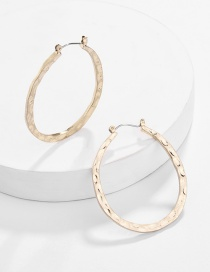 Fashion Gold Alloy Geometric Bump Embossed U-shaped Earrings