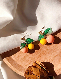 Fashion Orange Cherry Orange Earrings