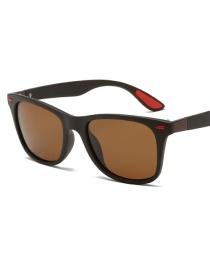 Coffee Box Tea Slice Square Polarized Sunglasses