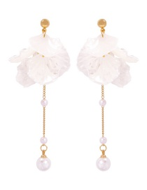 Fashion Gold Alloy Shell Pearl Earrings