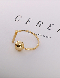 Fashion Gold Adjustable Brass Ring