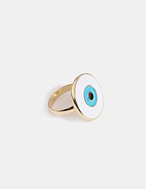 Fashion Gold Eye Alloy Drop Ring
