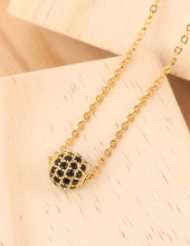 Fashion Gold 4 Rows Single Ball And Diamond Necklace