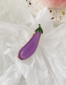 Fashion Eggplant Fruit And Vegetable Hair Clips