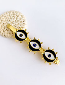 Fashion Black Alloy Three Eye Hairpins