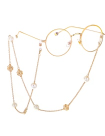 Fashion Gold Pearl Hollow Flower Sweater Chain Glasses Chain Multi-purpose Models