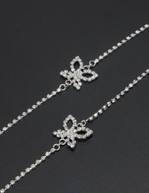 Fashion Silver Studded Anti-slip Butterfly Eyeglass Chain