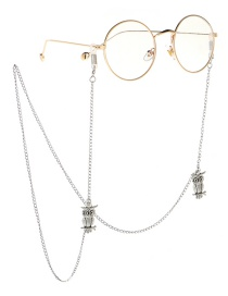 Fashion Silver Owl Girl Glasses Chain