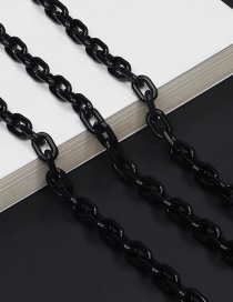 Fashion Black Resin Acrylic Small Environmental Protection Glasses Chain