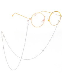Fashion Silver Stainless Steel Diamond Shape Color Anti-skid Glasses Chain