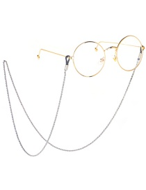 Fashion Silver Stainless Steel Chain Color Protection Anti-skid Glasses Chain
