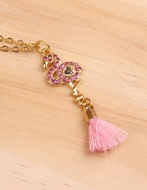 Fashion Pink Flamingo Necklace