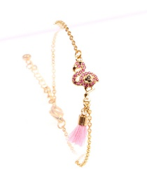 Fashion Gold Flamingo Copper Plated Gold-plated Full Zircon Bracelet