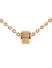 Fashion Gold Zircon Micro-inlay Necklace