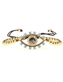 Fashion Gold Diamond Abalone Shell Eye Bracelet Ball Pull Bracelet
