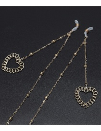 Fashion Gold Heart-shaped Hollow Color Protection Beaded Metal Chain Glasses Chain