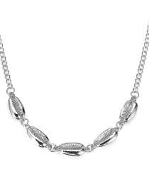 Fashion Silver Alloy Shell Necklace
